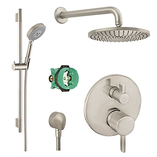 Lowest Prices! Hansgrohe KSH04231-27474-66BN-2 Raindance Downpour Air Showerhead Kit with Handshower...