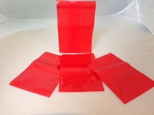 100 Druckverschlußbeutel 120 x 170 mm, 50 µ - rot eingefärbt