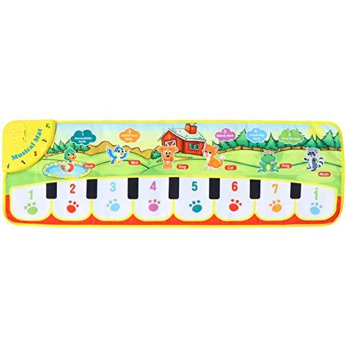 TOYANDONA 1 Uds. Alfombrilla de Piano para Niños Teclado de Suelo Manta de Piano para Niños Alfombrillas de Baile para Bebés Alfombrilla de Piano Alfombra Musical Juguete para Niños