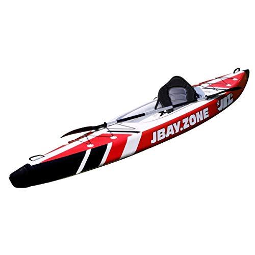 JBAY.Zone Kayak Canoa Hinchable 1 Plaza V-Shape Mono 385x81cm enteramente en Drop-Stitch de Alta presión