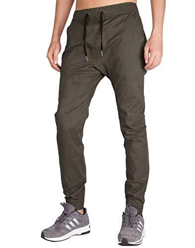 ITALY MORN Hombre Jogging Pantalones Gris Montaña Yoga Anchos M Chocolate