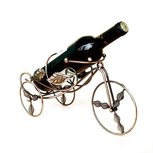 YOUDAN Rack Retro Creativo de Vino Triciclo Creativo Retro Triciclo Estante de Almacenamiento de Vino Decoración de la casa de Gama Alta Decoración Viva,A