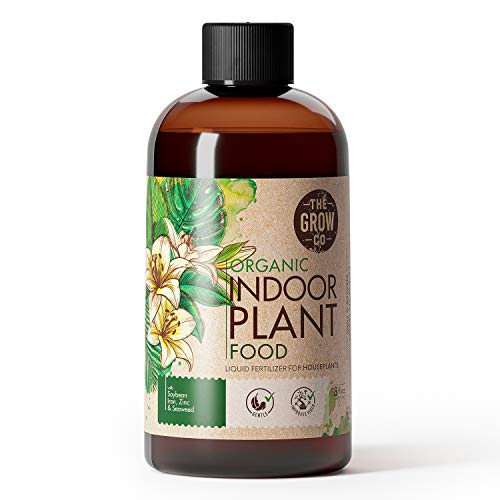 Organic Indoor Plant Food - All-Purpose Liquid Fertilizer - Best for Live Houseplants Indoors + Common Home Outdoor Plants in Pots (8 oz)