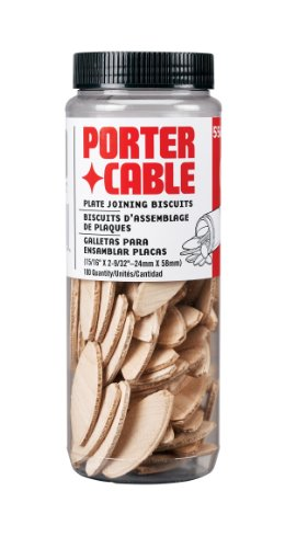 PORTER-CABLE 5562 No. 20 Plate Joiner Biscuits - 100 Per Tube