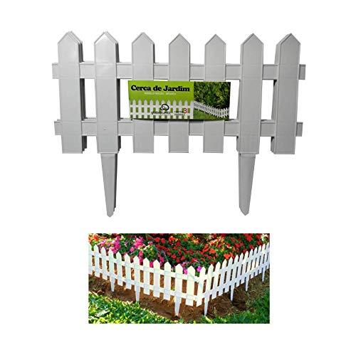 Cerca Decorativa para Jardim de Plástico com 3 Peças
