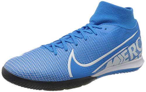 Nike Mercurial Superfly 7 Academy IC, Zapatillas de fútbol Sala Unisex Adulto, Multicolor (Blue Hero/White/Obsidian 414), 44.5 EU