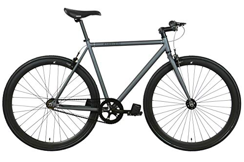 FabricBike-Bicicletta fixie nera, single speed, fixie bike, telaio Hi-Ten di acciaio, 10kg (Graphite, M-53)