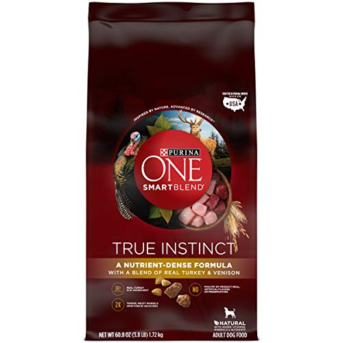 Purina ONE High Protein Natural Dry Dog Food, SmartBlend True Instinct With Real Turkey & Venison - (4) 3.8 lb. Bags