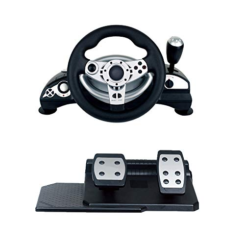 Racing Wheel Universal USB Cambio Y Pedales (PS2, PS3, PC) Soporte PC Win9x/ME/2000/XP/Vista32/Vista64/WIN7/WIN8/WIN10 D-INPUT/X-INPUT Compatible with STEAM steering wheel máquina juego vibración