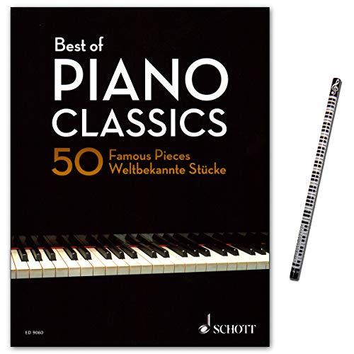 Best of Piano Classics - 50 Famous Pieces for Piano - Sammlung der 50 schönsten Originalkompositionen für Klavier mit Piano-Bleistift - ED9060-9790001191128