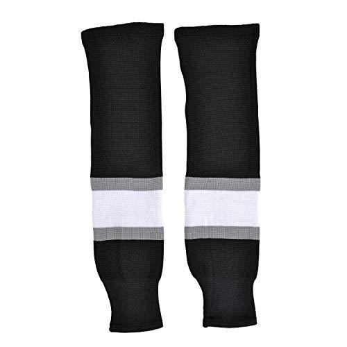 SHERWOOD - Erwachsenen Hockeystutzen Los Angeles NHL Senior I Schienbeinschutz I Stutzen für Hockeyspieler I ideale Passform I 100% Polyester, Schwarz/Grau/Weiß