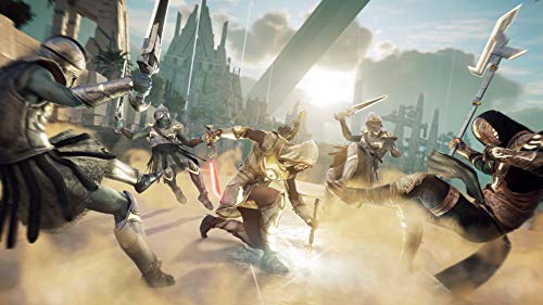 Video Game Print, Assassin's Creed Odyssey Poster, Sand Print, Warrior Print, Weapon Poster, Sword Print, Building Poster, Playstation Print, Xbox Poster Size 24''x32'' (61x81 cm)