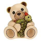 THUN - Teddy Abbraccio Affettuoso con Tartaruga Vera - Formato Maxi - Living, Oggetti Decorativi per la Casa - Idea Regalo - Linea We Are Ocean Lovers- Ceramica - 27x24x30 cm h