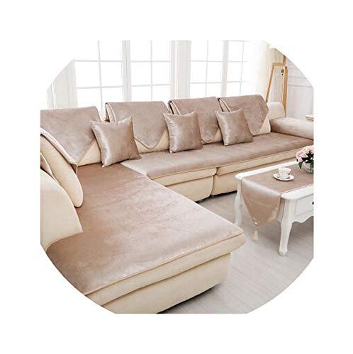 hotmoment-uk - Cojín de invierno para sofá de tela de terciopelo para cuatro estaciones, universal, antideslizante, 60 x 180 cm