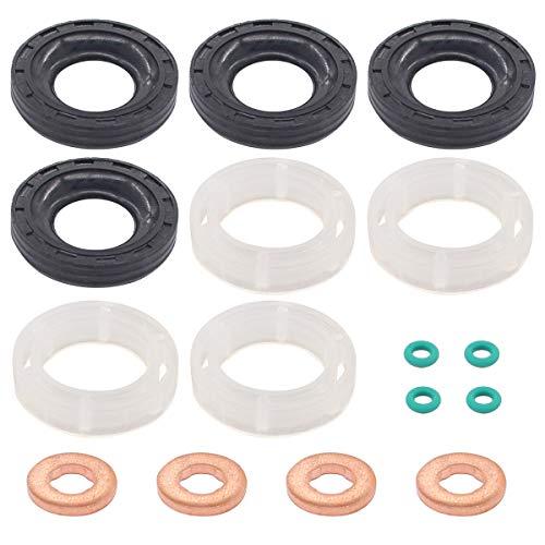 Kraftstoff Einspritzerdichtung Injektor Unterlegscheibe und O-Ring Dichtung Set für 1,6 TDCi/HDI