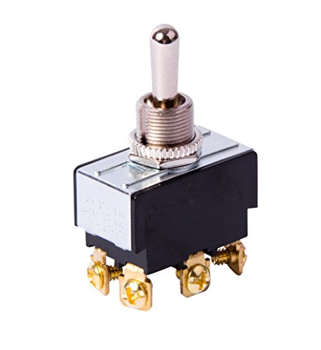 Gardner Bender GSW-123  Electrical Toggle Switch, DPDT, Mom ON-OFF-Mom-ON,  20 A/125V AC,  Screw Terminal Dpdt Momentary Switch Type