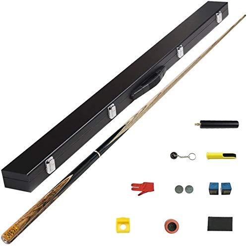 Xiaoyue Taco de Billar, Hecho a Mano Snooker Cue Consejos 10mm 1/2 articulado de Arce Eje billares de la Piscina Conjunto palillo de 145cm lalay (Color : #2)