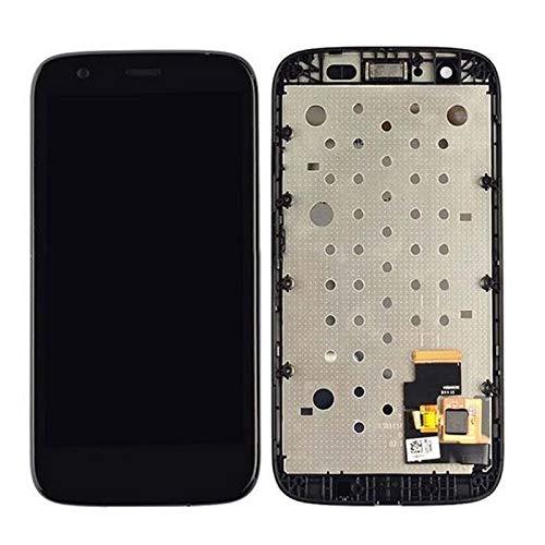 Pantallas LCD para teléfonos móviles Pantalla LCD con el Conjunto del digitalizador de la Pantalla de cóntar con el Marco/Ajuste para Motorola Moto G XT1032 XT1033 (Color : Black)