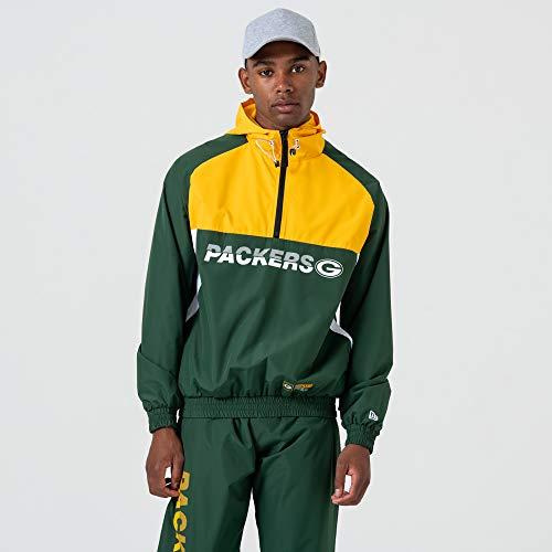 New Era Green Bay Packers - Giacca a vento da uomo, Uomo, 12033399, verde scuro, XL