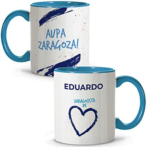 LolaPix Taza Zaragoza. Tazas Personalizadas con Nombre. Taza Desayuno fútbol. Regalos Personalizados. Varios diseños.