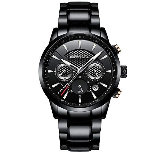 Relojpara Hombre Relojde Cuarzo para Hombre Relojes de Moda Marca Funcional Relojde Acero Completo para Negocios Relojimpermeable Relogio Masculino