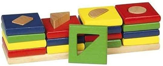 Goki WM034 - Juego de clasificación - Colores y Forma, El 4 Torres: Amazon.es: Juguetes y juegos
