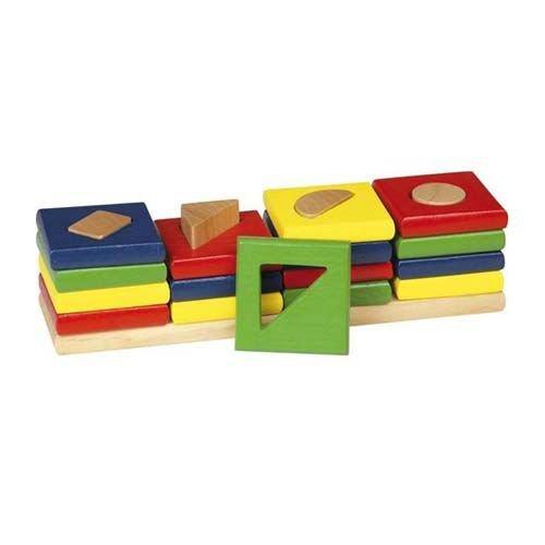 Goki WM034 - Sortierspiel - Farben und Formen, Die 4 Türme