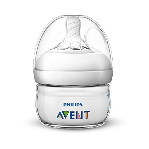 Philips Avent Biberon Natural anti-colica, 60ml, Trasparente SCF039/17