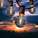 100Ft G40 Guirnaldas Luminosas de Exterior, Anting 50M Impermeable Cadena de Luces con 50+2 Bombillas LED, Decorative Guirnalda de Luces para Jardín Terrace Patio Fiesta Boda(2 Bombilla de Repuesto)