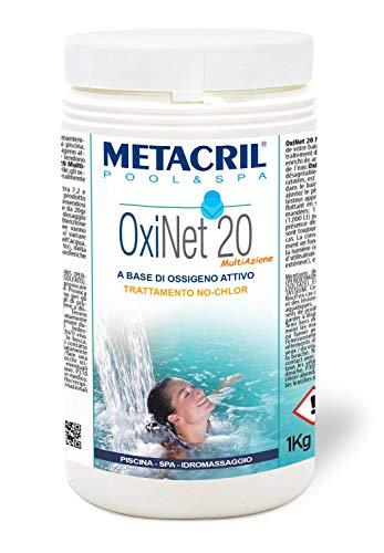 Metacril OXI Net 20 MULTIAZIONE - Ossigeno Attivo in pastiglie da 20gr - 1 kg. Ideale per Piscina o Idromassaggio (Teuco,Jacuzzi,Dimhora,Intex,Bestway,ECC.) Spedizione IMMEDIATA