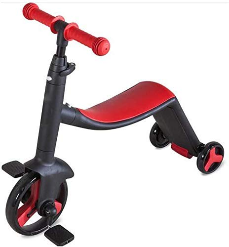 K.W 3 Ruedas Scooters Niños Equilibrio niños de Tres Ruedas de la Bici 3 en 1 Balance de Paseo en Bicicleta en los Coches de bebé Scooter Triciclo Juguetes for Montar Lili