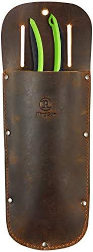 RingSun Pruner Leather Sheath 100 Fine Grain Leather Garden Pruner Sheath Protective Case Cover product image