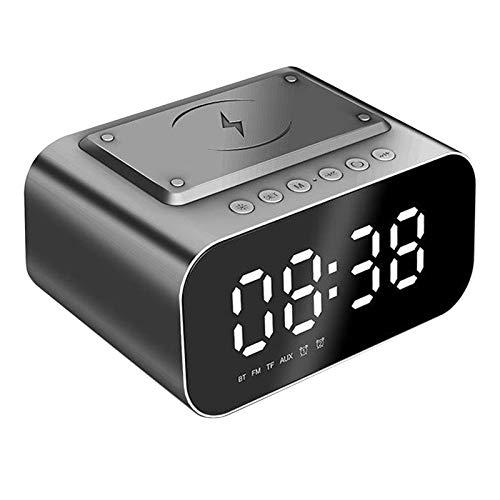 Gazechimp Espejo de Shell HD del ABS del Altavoz de Bluetooth del Despertador para La Cabecera del Hogar del Ordenador Portátil