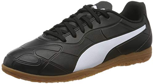 PUMA Monarch IT Jr, Zapatillas de Fútbol Unisex Adulto, Negro Black White, 37 EU
