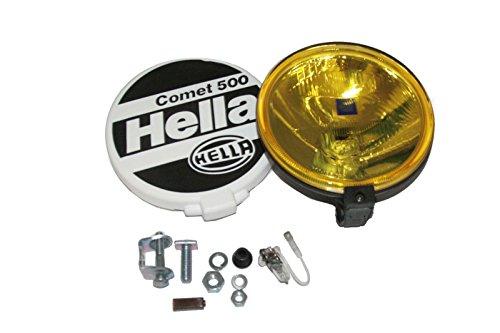 Hella Comet 500 Universal-Scheinwerfer von Enfield County, gelbe Lampe und Abdeckung