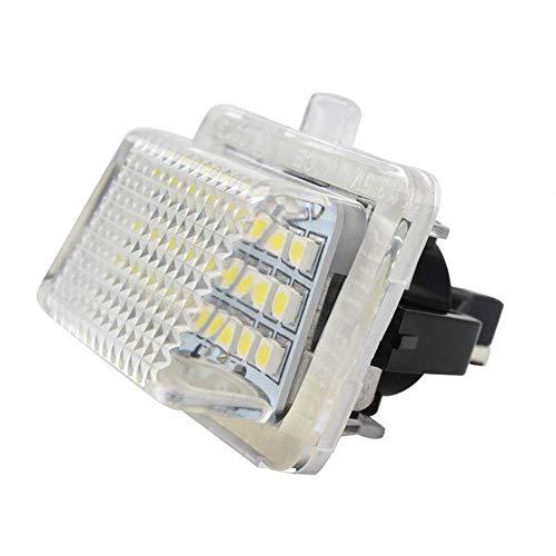 Lámpara de placa de licencia LED de 2 piezas para Mercedes Benz W204 / W212 / W216 / W221 / W207