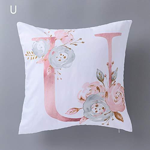 jumpeasy Home Decor Kamer Decoratie Kids gift Bloem Kussen Cover Kussensloop Sofa Gooi Engels Alfabet