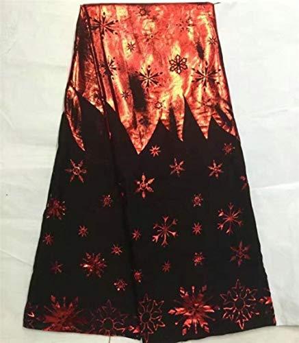 B8S5 Nieuw gebronsd mooi magisch patroon Afrikaanse katoenen kantstof voor kleding, groothandelsprijs en gratis verzending Zwitsers nobel kant, 1