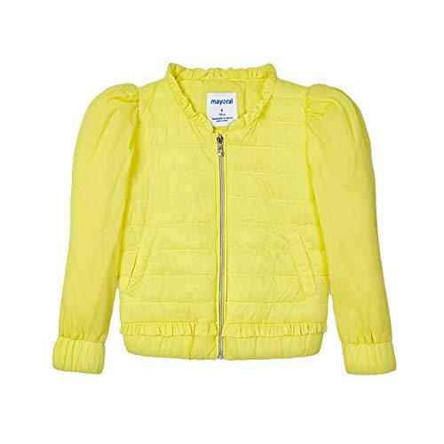 Mayoral Chaqueta cortavientos con cuello redondo para niña, color amarillo 3482 amarillo 6 Años