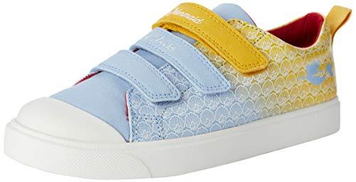 Clarks Unisex-Kinder City Shell K Sneaker Niedrig, Gelb (Yellow Interest Yellow Interest), 32 EU