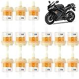 50 Pezzi Filtro Carburante per Motocicletta Filtri Benzina Diesel Filtro Carburante Universale Filtro del Carburante del Motore Filtro Benzina per Tosaerba, Moto, Scooter e Kart