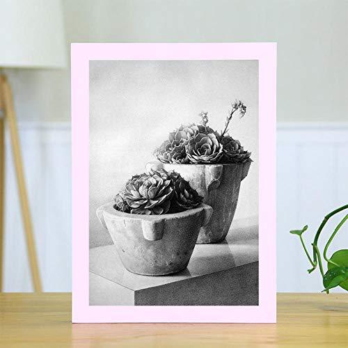 Xqsb Bilderrahmen Modern Natur Bildergalerie Massivholz 1 Pack Pink A4 Wandbehang 21 × 29,7 cm