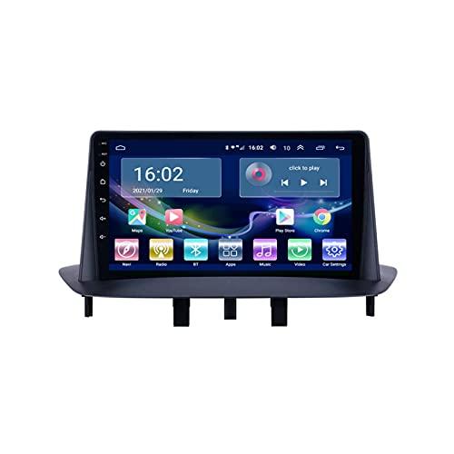 Auto Radio Stereo Sat nav Per Megane 3 2009-2014 Android 10.0 GPS Navigazione Multimedia Video Player Supporto 4G+Wifi/SWC/Carplay/Bluetooth/DSP/Touch Screen/mirror link,8 Core 4G+WiFi: 3+32GB