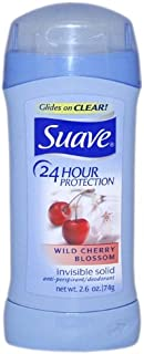Suave 24 Hour Protection Wild Cherry Blossom Invisible Solid Anti-Perspirant Deodorant, 2.6 Ounce