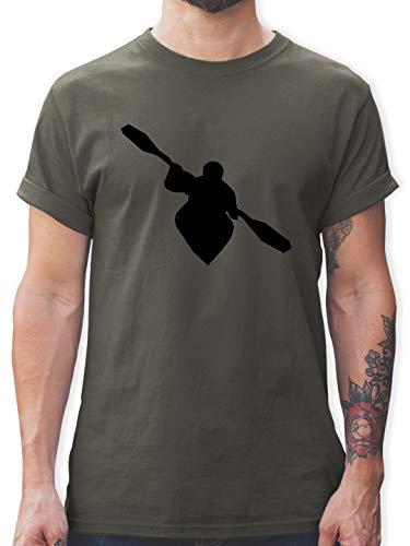 Wassersport - Kajak - XXL - Dunkelgrau - Shirt Herren XL kajak - L190 - Tshirt Herren und Männer T-Shirts