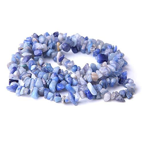 KEJI 5-8Mm Piedra Natural Forma Irregular Cuentas De Chip Al Azar Cuarzo Rosa Amatistas Lapislázuli Turquesas para Hacer Joyas Pulsera