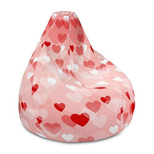 MyUSA Love Sack Bean Bag Cover, Love Sac, Love Sack Bean Bag Oversized, Love Sack Couch, Love Sacks (One Size) (Crazy Pink)