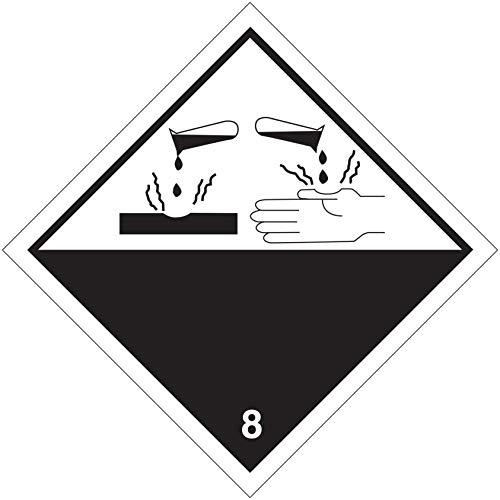 StickersLab A.D.R aluminium sticker voor klasse 8 (corrosie) 300x300mm Modello - PVC adesivo