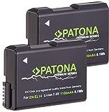 PATONA Premium (2X) - Ersatz für Akku Nikon EN-EL14 EN-EL14a (echte 1100mAh)