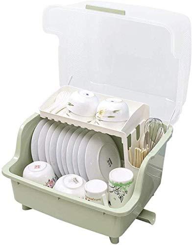 XXT Grand Placard Cuisine plastique maison Arts de la table Mettez Boîte de rangement avec couvercle multi-fonction Vaisselle Bol plat de vidange rack